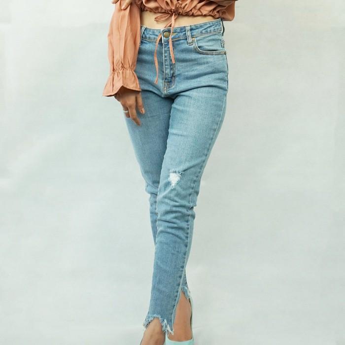 Quần Jeans Skinny Rách Urban 92 (Màu Nhạt)