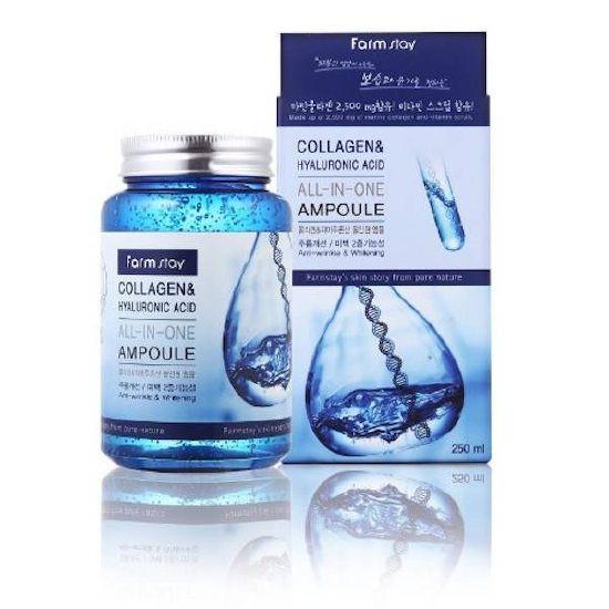 Tinh Chất Collogen Tự Nhiên Chống Lão Hóa Da Farm Stay Collagen & Hyaluronic Acid All-In-One Ampoule 250ml