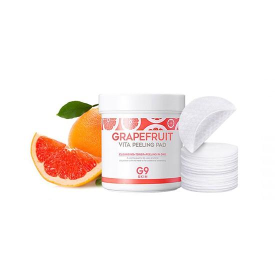 Bông Tẩy Tế Bào Chết Chiết Xuất Từ Bưởi G9Skin Grapefruit Vita Peeling Pad 200g