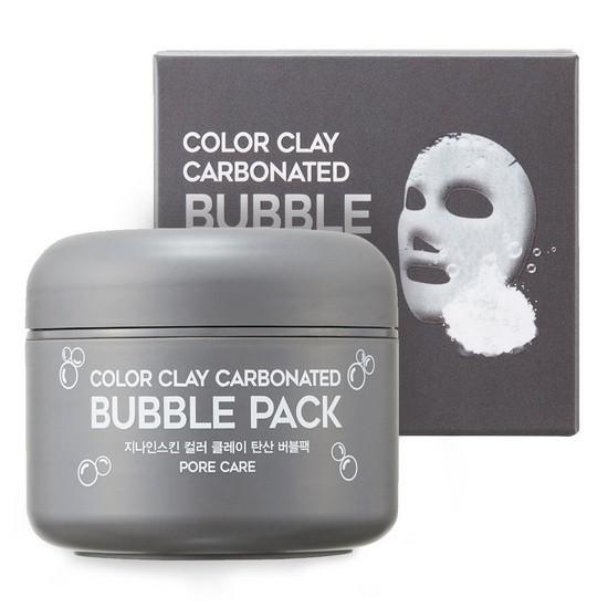 Mặt Nạ Bùn Sủi Bọt Làm Sạch Lỗ Chân Lông Và Loại Bỏ Bã Nhờn G9Skin Color Clay Carbonated Bubble Pack 100ml