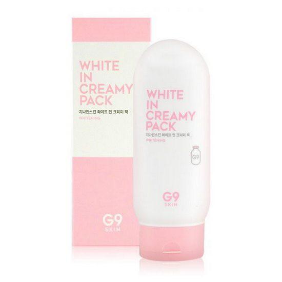 Kem Tắm Trắng Chiết Xuất Từ Sữa Và Thảo Mộc G9Skin White In Creamy Pack