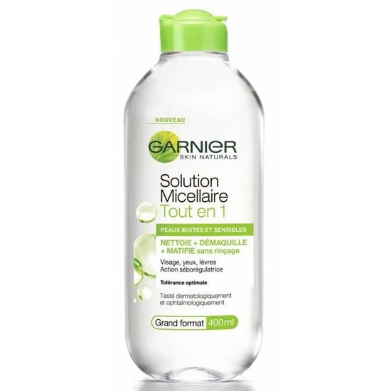 Nước Tẩy Trang Cho Da Hỗn Hợp Dầu Và Nhạy Cảm Garnier Skin Active Solution Micellaire 400ml (Xanh Lá)