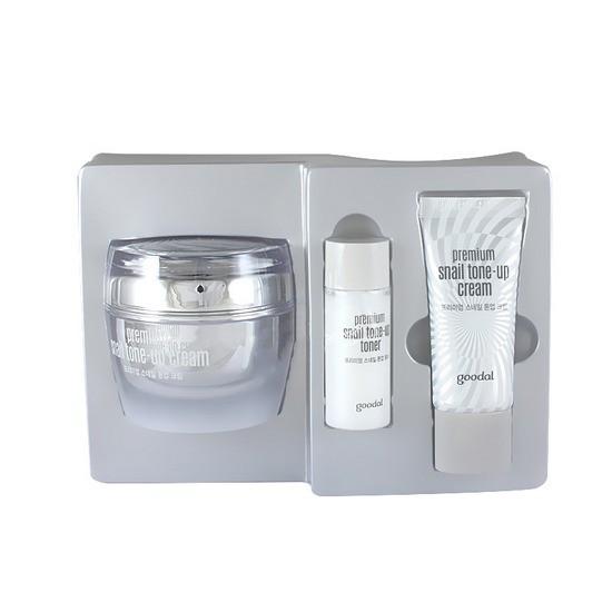 Bộ Dưỡng Trắng Da Chiết Xuất Tinh Chất Ốc Sên Goodal Premium Snail Tone Up Cream Special Set (3 Sản phẩm)
