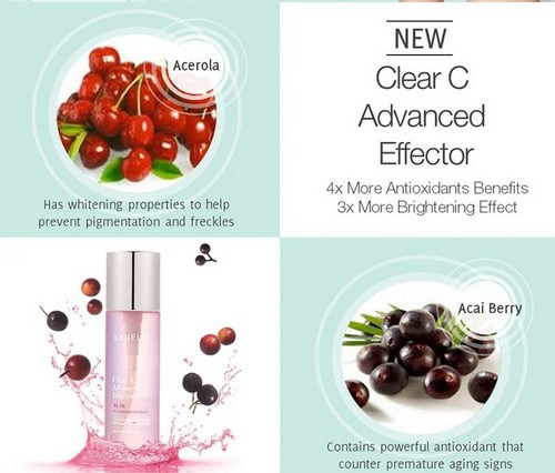 Tinh Chất Dưỡng Vitamin C Sáng Da Laneige Clear C Advanced Effector 150ml