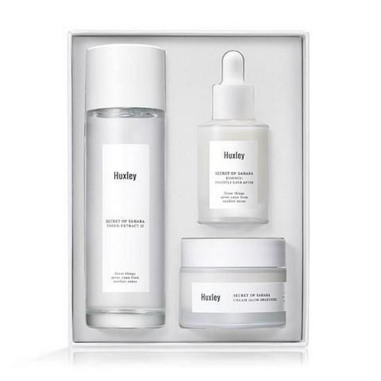 Bộ Dưỡng Trắng Sáng Da Cao Cấp Huxley Routine – Brightening Trio Skincare Set (3 Sản Phẩm)