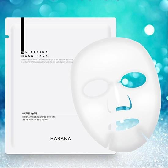 Hộp 10 Mặt Nạ Cấp Ẩm Dưỡng Sáng Da Harana Whitening Mask Pack 25ml