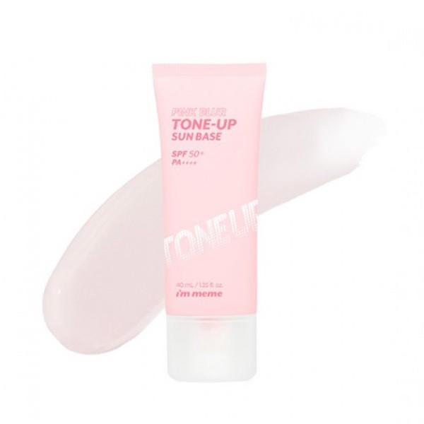 Kem Chống Nắng Kiềm Dầu Nâng Tông I'm Meme Pink Blur Tone Up Sun base SPF50+ PA+++ 40ml