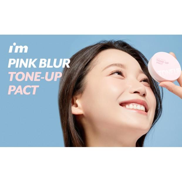 Phấn Phủ Kiềm Dầu Nâng Tông I'm Meme Pink Blur Tone Up Pact 10g