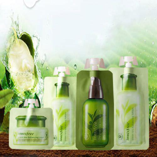 Bộ Dùng Thử Dưỡng Da Innisfree Trà Xanh Green Tea Balancing
