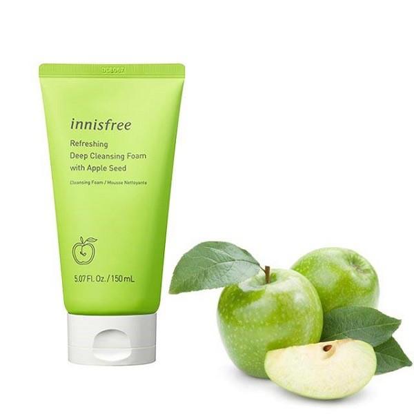 Sữa Rửa Mặt chiết Xuất Táo Innisfree Apple Seed Deep Cleansing Foam 150ml