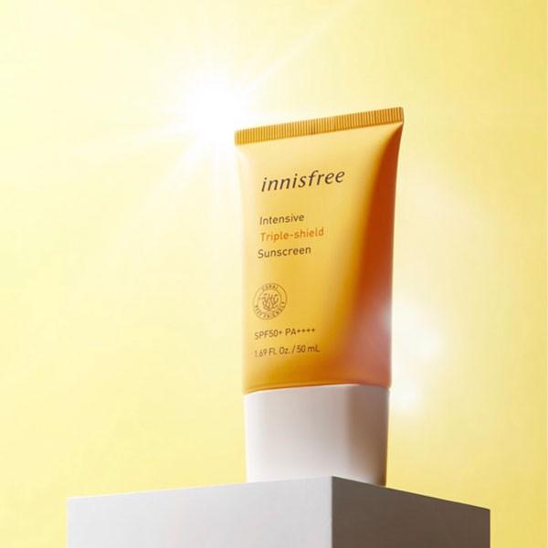 Kem Chống Nắng 3 Tác Dụng Chuyên Sâu Innisfree Intensive Triple Care Sunscreen SPF50+ Pa++++ 50ml (Mới 2020)
