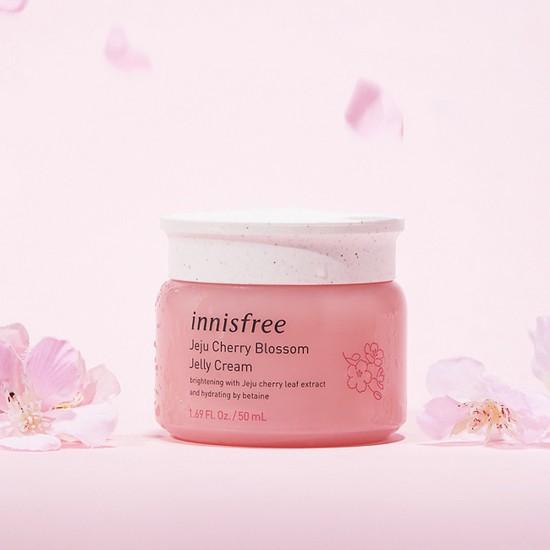 Kem Dưỡng Dạng Gel Chiết Xuất Lá Anh Đào Hoàng Gia Innisfree Jeju Cherry Blossom Jelly Cream 50ml