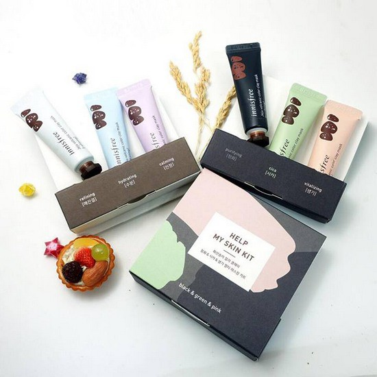 [HOT] Bộ 3 Mặt Nạ Dưỡng Da Mini Innisfree Jeju Volcanic Color Clay Mask Kit 10ml
