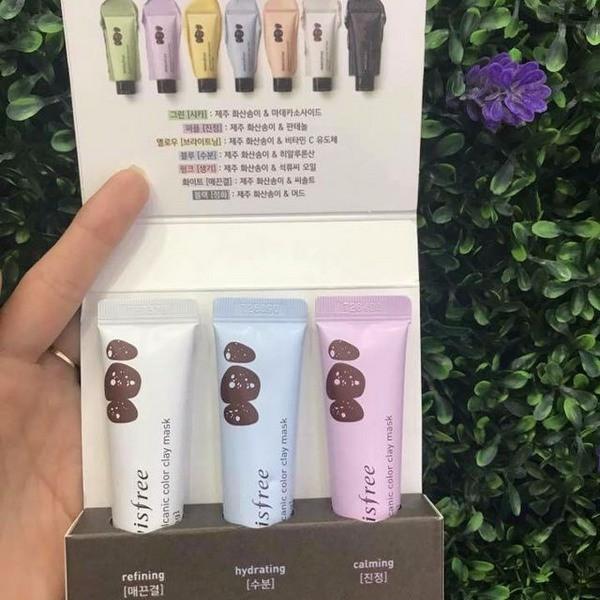 [HOT] Bộ 3 Mặt Nạ Dưỡng Da Mini Innisfree Jeju Volcanic Color Clay Mask Kit 10ml