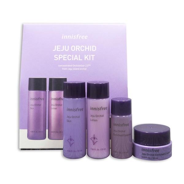 Bộ Dùng Thử Dưỡng Trắng Và Chống Lão Hoá Innisfree Jeju Orchid Special Kit (4 sản phẩm)