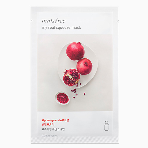 Combo 10 Mặt Nạ Gói Innisfree It's Real Pomegranate (Lựu)