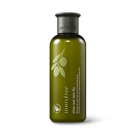 Nước Hoa Hồng Chiết Xuất Oliu Vàng Dành Cho Da Khô Innisfree Olive Real Skin EX 200ml