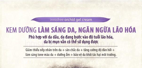 Kem Dưỡng Sáng Da Và Ngăn Ngừa Hình Thành Nếp Nhăn Innisfree Jeju Orchid Gel Cream 50ml
