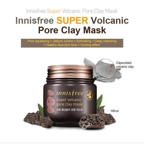 Mặt nạ đất sét Innisfree Super Volcanic Pore Clay Mask - 100ml