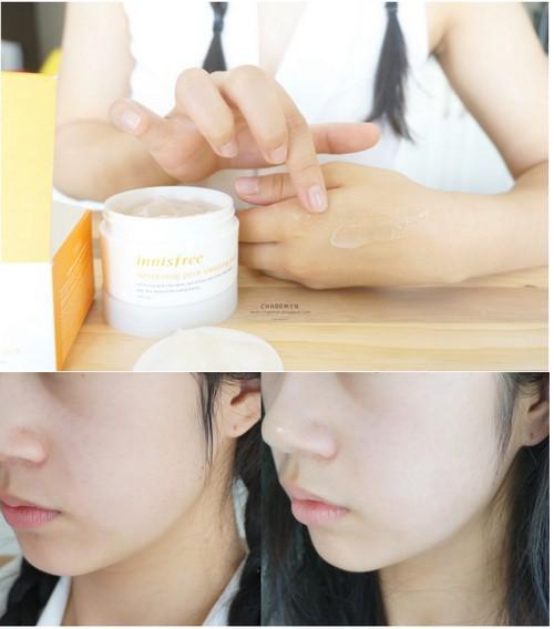 Mặt Nạ Ngủ Dưỡng Trắng Da Và Se Khít Lỗ Chân Lông Innisfree Whitening Pore Sleeping Pack 100ml