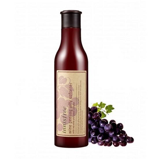 Tẩy Tế Bào Chết Chiết Xuất Rượu Vang Innisfree Wine Peeling Jelly Softener 180ml