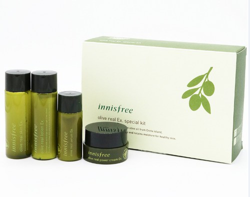 Bộ Dưỡng Da Dùng Thử Olive Innisfree Olive Real Ex. Special Kit