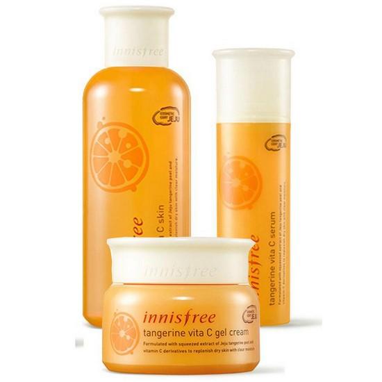 Bộ Dưỡng Trắng Da Innisfree Tangerine Vita C Set (3 Sản Phẩm)