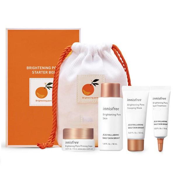 Bộ Kit Dưỡng Trắng Và Se Khít Lỗ Chân Lông Innisfree Brightening Pore Starter Box (5 items)
