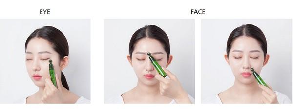 Image result for Tinh chất dưỡng mắt & mặt dạng đầu lăn massage từ trà xanh Innisfree Green Tea Seed Eye & Face Ball