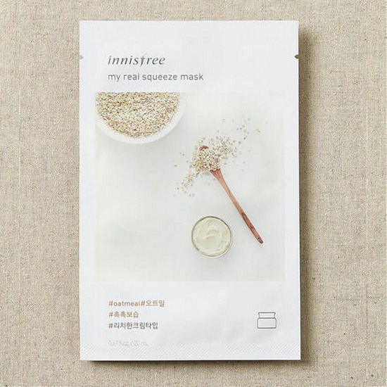 Combo 10 Mặt Nạ Gói Yến Mạch Innisfree It's Real Squeeze Mask Oatmeal