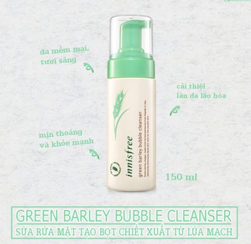 Sữa Rửa Mặt Lúa Mạch  Innisfree Green Barley Bubble Cleanser