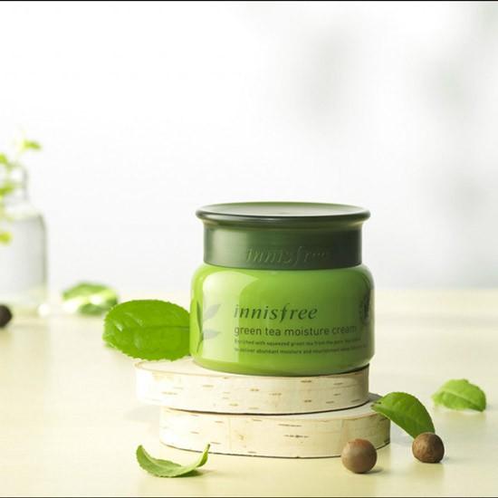 Kem Dưỡng Ẩm Cho Da Khô Chiết Xuất Trà Xanh Innisfree Green Tea Moisture Cream 50ml