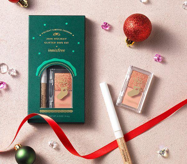 Bộ Trang Điểm Mắt Phiên Bản Giới Hạn Dành Cho Giáng Sinh Innisfree 2018 Holiday Glitter Duo Kit