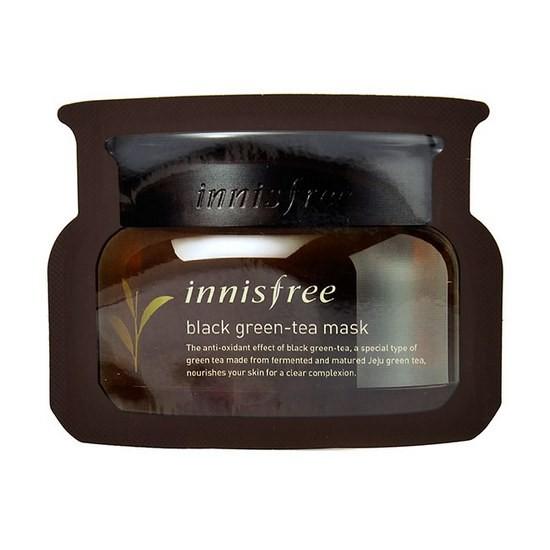 Mặt Nạ Chiết Xuất Từ Lá Trà Đen Innisfree Black Green Tea Mask 30ml (Dùng Thử)