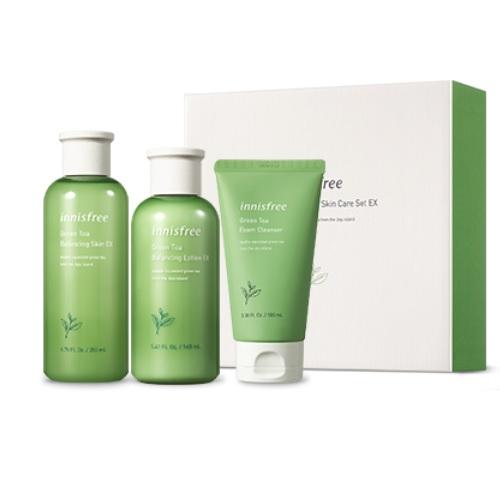 Bộ Dưỡng Ẩm Chuyên Sâu Từ Tinh Chất Trà Xanh Innisfree Green Tea Balancing Skin Care Set EX (3 Sản Phẩm)