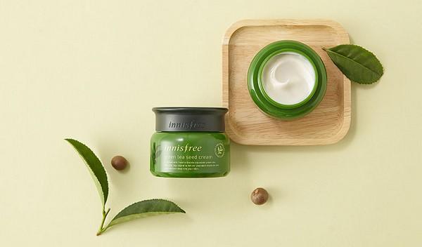 Kem Dưỡng Ẩm Chiết Xuất Mầm Trà Xanh Innisfree Green Tea Seed Cream 50ml