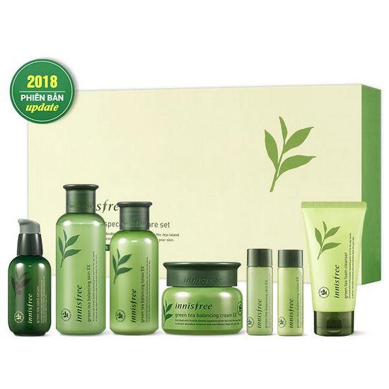 Bộ Dưỡng Da Chiết Xuất Trà Xanh Phiên Bản Giới Hạn Innisfree Green Tea Special Skin Care Set - Travel Exclusive (7 Sản Phẩm)