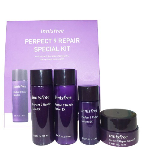 Bộ Dưỡng Dùng Thử Chống Lão Hóa Da Innisfree Perfect 9 Repair Special Kit  (4 Sản phẩm)