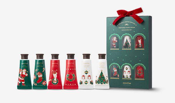 Bộ Set Giáng Sinh 6 Tuýp Kem Dưỡng Da Tay Hương Nước Hoa Quyến Rũ Innisfree Perfumed Hand Cream Miniature Set (Holiday Limited Edition)