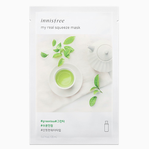 Combo 10 Mặt Nạ Chiết Xuất Trà Xanh Innisfree My Real Squeeze Mask #Greentea