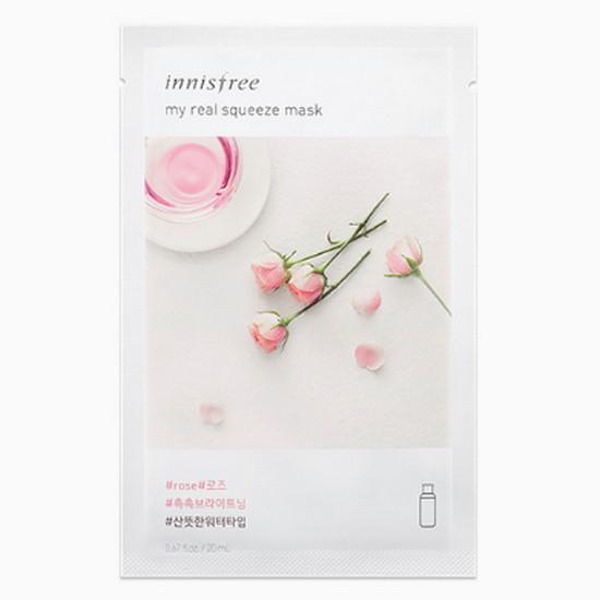 Combo 10 Mặt Nạ Gói Innisfree It's Real Rose (Hoa Hồng)
