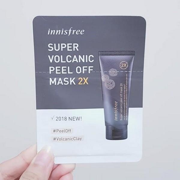 Combo 5 Mặt Nạ Lột Đất Sét Tro Núi Lửa Innisfree Super Volcanic Peel Off Mask 2X - Dùng thử