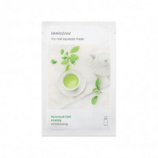 Combo 10 Mặt Nạ Gói Trà Xanh Innisfree It's Real Squeeze Mask Green Tea