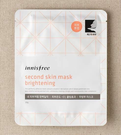 Mặt Nạ Dưỡng Trắng Sáng Và Mịn Da Innisfree Second Skin Mask Brightening 20ml (Dòng Mới 08/2015)