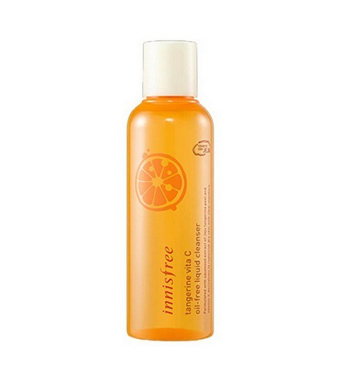 Dầu Tẩy Trang Kiềm Dầu, Sáng Da Innisfree Tangerine Vita C Oil-Free Liquid Cleanser
