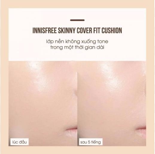 Lõi Phấn Nước Kiềm Dầu Che Phủ Hoàn Hảo Innisfree Skinny Cover Fit