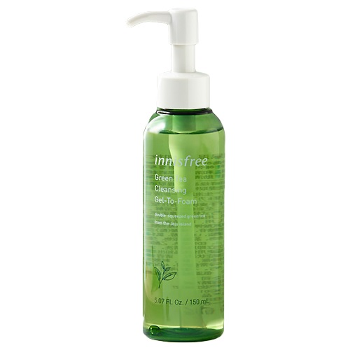 [BIG SALE] Sữa Rửa Mặt Dạng Gel Tạo Bọt Innisfree Green Tea Cleansing Gel-To-Foam 150ml
