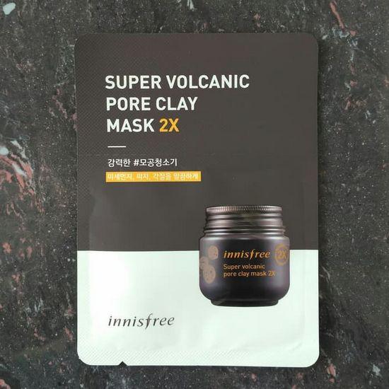 Combo 5 Gói Mặt Nạ Đất Sét Innisfree Super Volcanic Pore Clay Mask 2X Sample 4ml (Dùng Thử)