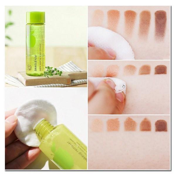 Tẩy Trang Mắt Môi Táo Xanh INNISFREE Apple Seed Lip & Eye Remover 100ml