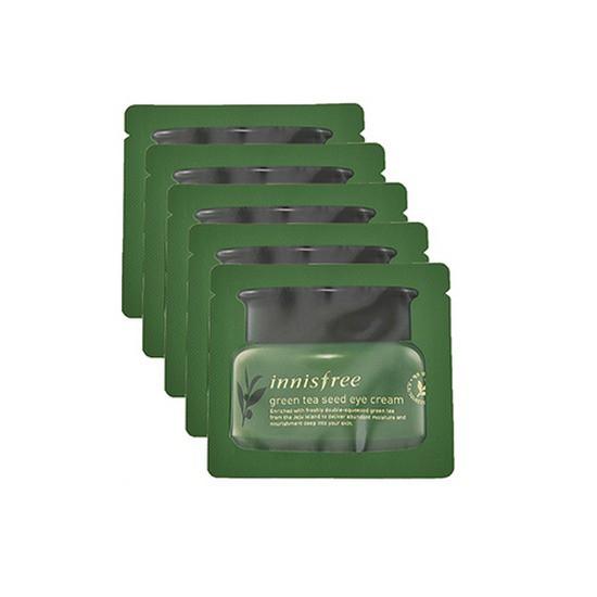 Combo 5 Gói Kem Dưỡng Mắt Trà Xanh Innisfree The Green Tea Seed Eye Cream Sample (Dùng Thử)